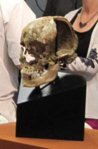 """Jane's"" remains were on display when the press conference started."